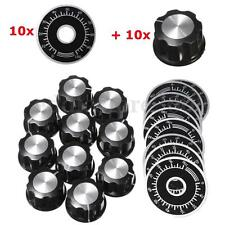 10PCS Rotary Caps Potentiometer Knobs With 10PCS Counting Dial 0 - 100 Scale New