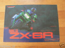 HAP-097 KAWASAKI  BROCHURE PROSPEKT FOLDER NINJA ZX-6R  DUTCH 8 PAGES