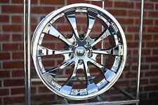"VELOCITY VW898 CHROME 20""X8.5 WHEELS RIMS 5x120, +35 (SET OF 4)"