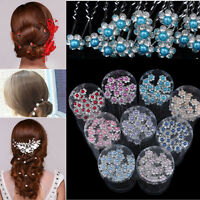 20Pcs Flower Crystal Pearl Bridal Hair Clips Hairpin Wedding Hair Accessories
