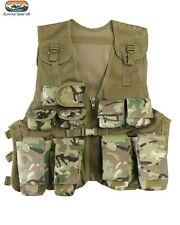 Kids BTP Assault Vest Fancy Dress Childrens Military Army Camo Combat Soldier