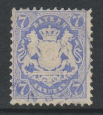Germany (Bavaria) - 1870/73, 7k Pale Blue - Wmk Narrow Mesh 14mm - F/U - SG 56B