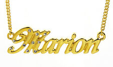 18K Gold Plated Necklace With Name MARION - Personalised Name Chain Designer