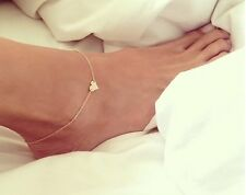 Hotwife Cuckold Heart Anklet Bracelet  Gold Chain Anklet Foot Jewelry