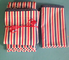 New Ralph Lauren Red, White and Blue Striped Full Flat Sheet and 1 STD. P-case