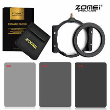 ZOMEI Square filter kit Full ND2+ND4+ND8+Holder+77mm Ring for Cokin Z 150*100mm