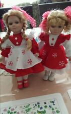 Porcelain Doll. The Peppermint Twins.  By heritage collection. Rare.
