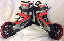 Landroller Red Black Mojo Skates Men's 7 Women's 8 EUC Land Roller Angled Wheels