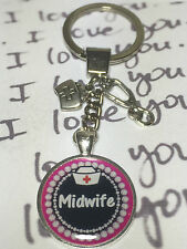 Keep calm i'm a MIDWIFE chunky keyring* FREE POST * NEW DESIGN