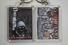 DISTURBED TEN THOUSAND FISTS PLASTIC KEYCHAIN KEYRING NEW OFFICIAL ASYLUM