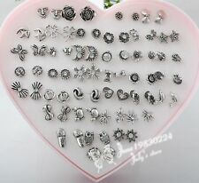 36 Pairs Silver Earring Stud Wholesale Pack Lot For girl friend Gift JOER101