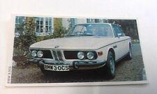 1971 BMW 3.0 CS  Daily Express UK Trade Swap Card
