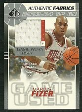 MARCUS FIZER 03-04 SP GAME USED GAME WORN JERSEY CHICAGO BULLS