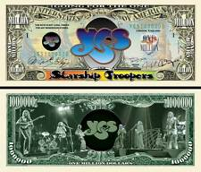 YES - BILLET 1 MILLION DOLLAR US ! Collection Rock Prog Chris Squire Roger Dean