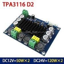 DC 12V 24V 120W*2 TPA3116 Dual Channel digital Power audio amplifier board amp