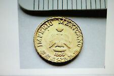 2 Great Imperio Mexicano 1865 Gold HGE Coins