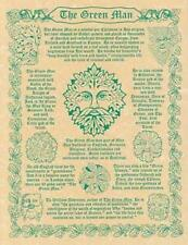 Green Man Parchment Page for Book of Shadows!