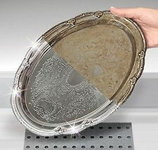MIGHTY SHINE TARNISH REMOVER SYSTEM JEWELRY CLEANER TRAY PLATE SILVER