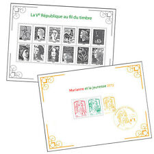 FRANCE 2013... 2 SOUVENIR SHEET....MNH...LES MARIANNE DE LA REPUBLIQUE