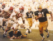 JIM TAYLOR NFL GB GREEN BAY PACKERS VS CHIEFS UNSIGNED 8X10 PHOTO