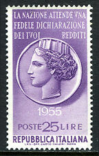 """Italy 691, MNH. Propoganda for the payment of taxes. """"Italia"""", 1955"""