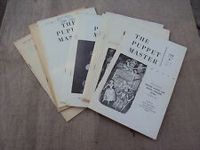 Scarce The Puppet Master Vol 5 No 1-10 lacks No 8 1956-58 Puppetry British Guild