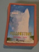 Vintage Old Faithful Yellowstone National Park Playing Cards Deck Wyoming Travel