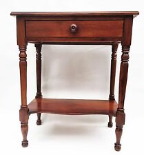 Walnut Federal Furniture Colonial Sheraton Antique Nightstand Side Table. c.1795