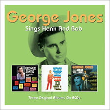 George Jones SINGS HANK WILLIAMS / BOB WILLS + SALUTES HANK 3 Albums NEW 2 CD