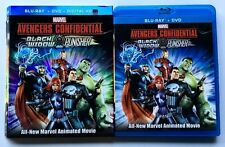 MARVEL AVENGERS CONFIDENTIAL BLACK WIDOW PUNISHER BLU RAY DVD RARE OOP SLIPCOVER