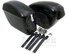 Mutazu Universal LW Hard Bags Motorcycle Saddlebags & Heavy Duty Mounting Kit