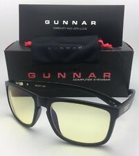 New GUNNAR Computer Glasses INTERCEPT 58-17 135 Onyx Black Frame w/ Amber Yellow