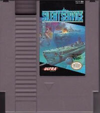 SILENT SERVICE with cosmetic flaws NINTENDO SYSTEM SUBMARINE GAME NES HQ