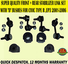 FOR CIVIC 2.0 TYPE R EP3 01-06 FRONT REAR ANTI ROLL DROP LINK BAR & BUSHES X8
