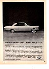 1964 CHEVY II / NOVA SPORT COUPE V8  ~  ORIGINAL PRINT AD