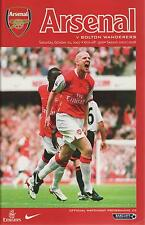 Football Programme - Premiership - Arsenal vs Bolton Wanderers 20/10/2007