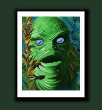 Creature from the Black Lagoon Gill-Man Classic Monster SIGNED ART Print