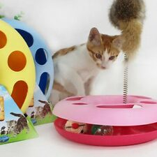 Pet Cat Happy Circle Spring Toy Activity Training Funny Disk Toy Random