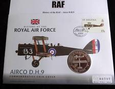 2008 B/U GIBRALTAR 1 CROWN COIN PNC + COA HISTORY OF THE RAF THE AIRCO D.H.9