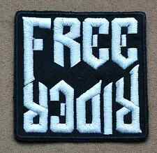 FREE RIDER CHOPPER EMBROIDERED IRON ON PATCH Aufnäher Parche brodé patche toppa