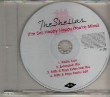 (DR434) The Sheilas, (I'm So) Happy Happy (You're Mine)- 2007 DJ CD