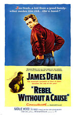 classic REBEL WITHOUT A CAUSE movie poster JAMES DEAN NATALIE WOOD hot 24x36