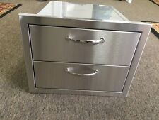 USA BBQ ISLAND / OUTDOOR KITCHEN ALL 304 STAINLESS STEEL DOUBLE DRAWER SET 2-DR