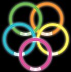 45 NEON GLOW GLO IN THE DARK STICKS BRACELETS HEN NIGHTS KIDS ADULTS PARTY BAGS