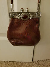 Moulin Rouge Womens Boutique Deco, Reptile Leather Croc, Shoulder Handbag Purse