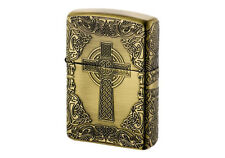 ZIPPO Cross Celtic Design BA Antique Brass / RARE model from JAPAN
