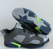 NIKE AIR JORDAN VI 6 RETRO LOW GP DARK GREY-ULTRA VIOLET SZ 1.5Y [768884-008]