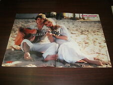 Poster MICK JAGGER E JERRY HALL formato 40 x 26, a seguire clipping MEL GIBSON
