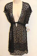 NWT BECCA Bikini Swimwear Cover up Dress Tunic Size M Black