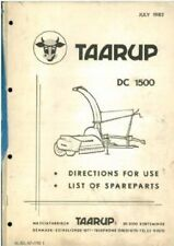 Taarup Forage Harvester DC 1500 Operators Manual with Parts List - DC1500